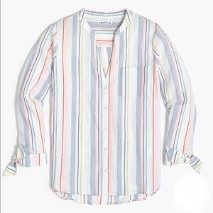 Tie-sleeve Button-up Shirt